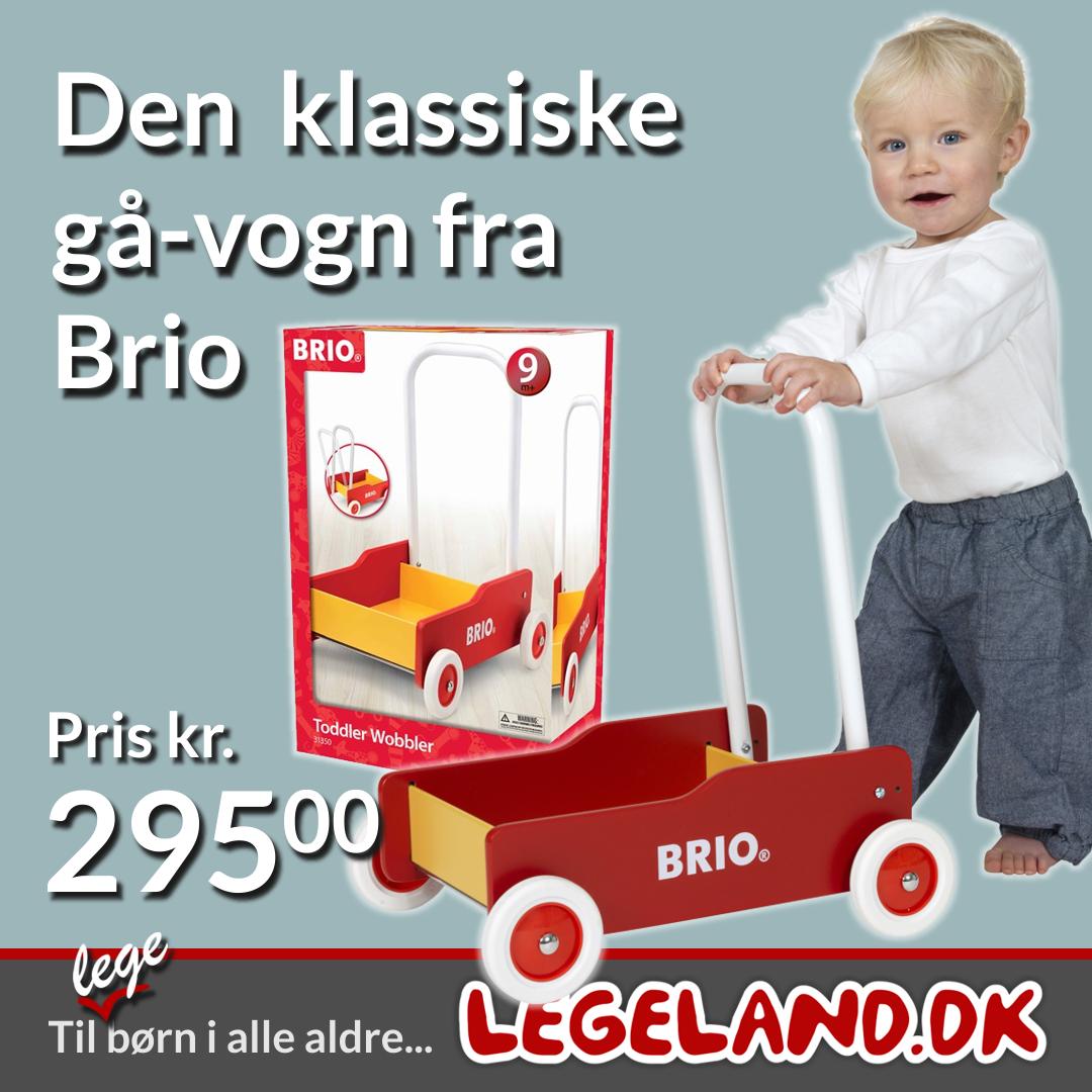 Den klassiske gå-vogn fra Brio