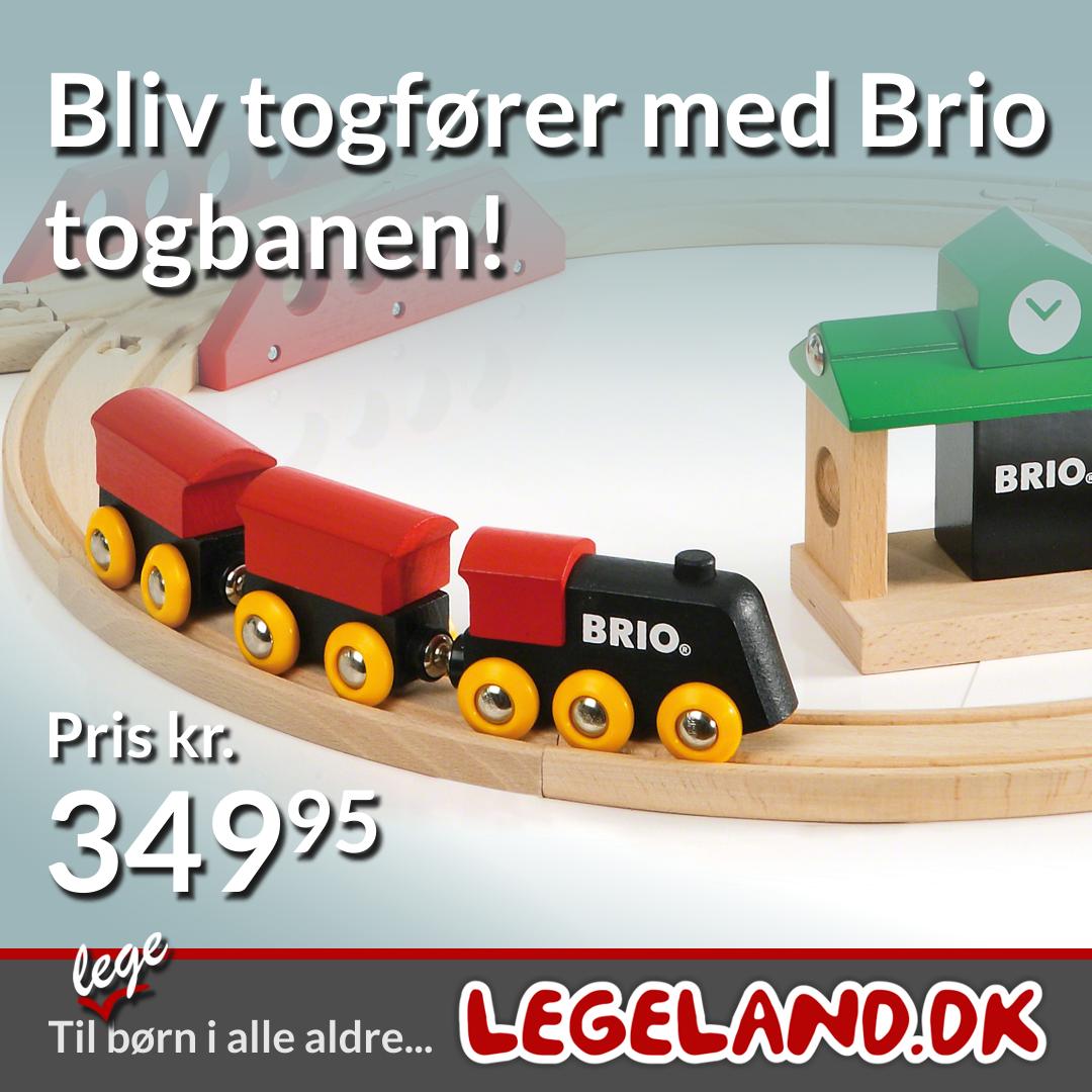 Barnets første togbane fra Brio