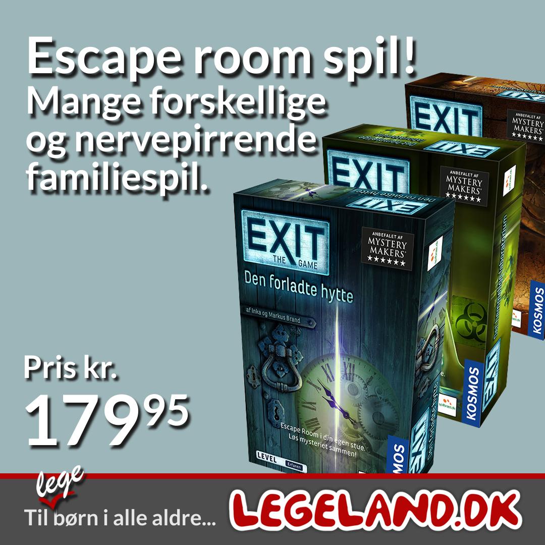 Escape Room spillet Exit - Alle de spændende spil