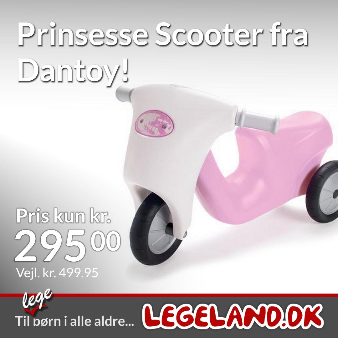 Dantoy skubbe-scooter til små princesser