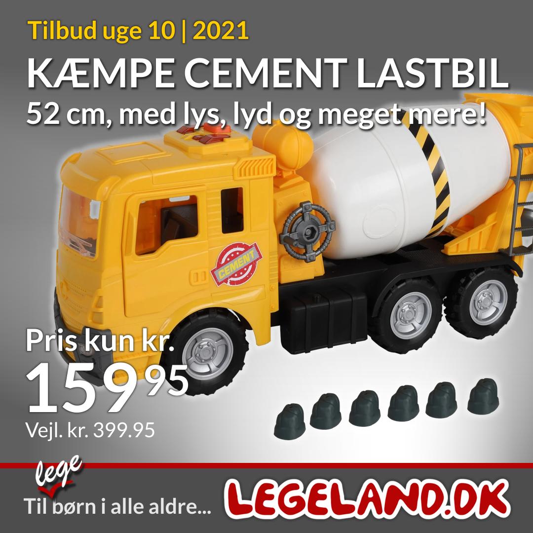 Stor cement legetøjs lastbil til ude og indeleg