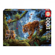 EDUCA 1000 briks Puslespil Tigers in the Tree