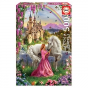 EDUCA 500 briks Puslespil Fairy and Unicorn