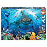 EDUCA 500 briks Puslespil Great White Shark