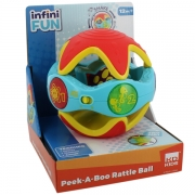 InfiniFun Peek A Boo Rattle Ball