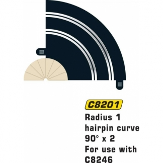 Scalextric c8201 Rad 1 Hairpin Curve