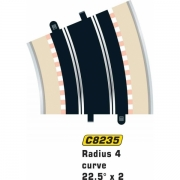 Scalextric c8235 Rad 4 Outer Curve 22.5° (2 per bag)