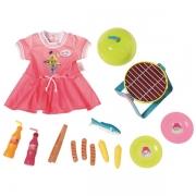 b215a0d861a5 Baby Born Grillsæt med kjole og udstyr