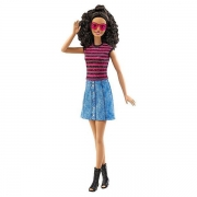 Barbie Fashionista dukke med stribet top