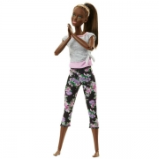 Barbie Made To Move Dukke i Blomstrede Leggins