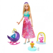 Barbie Dreamtopia Nurturing Story Prinsesse med Honey og Baby Drager