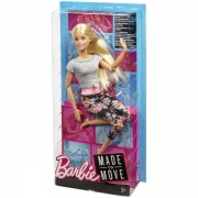 Barbie Made To Move dukke, 1 stk.