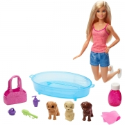 Barbie Puppy Bath Time Legesæt