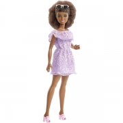 Barbie Fashionista Purple Romper Petite dukke