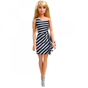 Barbie Wearing Stripes Hvid og Sort