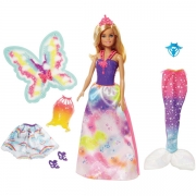 Barbie Dress-Up Snap-On Dukke