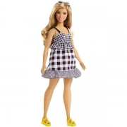 Barbie Fashionista Gingham Curvy Dukke