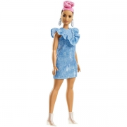 Barbie Fashionista Denim Dress Curvy Dukke