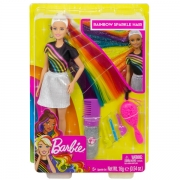 Barbie Rainbow Sparkle Hair Dukke