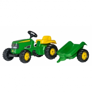 rollykid john deere med anh nger 012190 pedal traktor. Black Bedroom Furniture Sets. Home Design Ideas