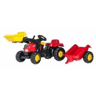 RollyKid-X pedaltraktor med grab og anhænger