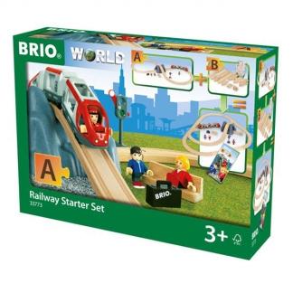 Brio 33773 - Togbane, Startsæt med tog-tilbehør. Fra 3 år. FSC certificeret træ.