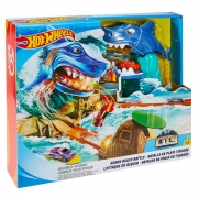 Hot Wheels Shark Beach Battle Sæt
