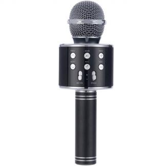 acec3813687 Voice Mikrofon i sort med højtaler. Afspil din yndlingsmusik, som du ...