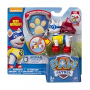 Paw Patrol Apollo Action hvalp med Badge