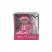 Dolls World Little Treasure Dukke i lyserød