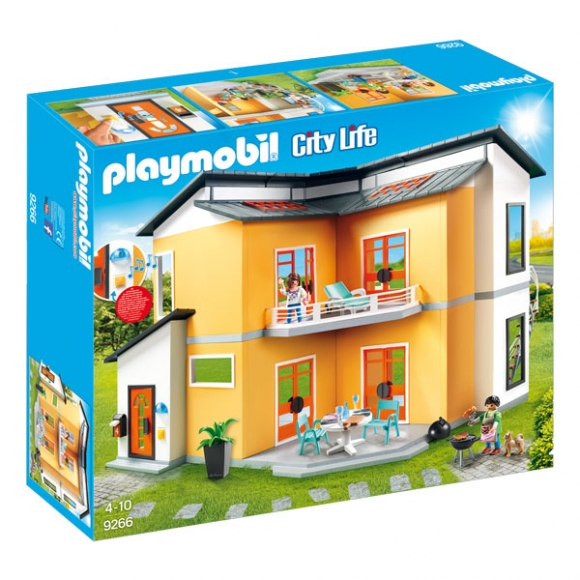 Playmobil city life 9266 moderne feriehus for Playmobil modernes haus 9266