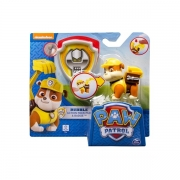 Paw Patrol Rubble Action hvalp med Badge