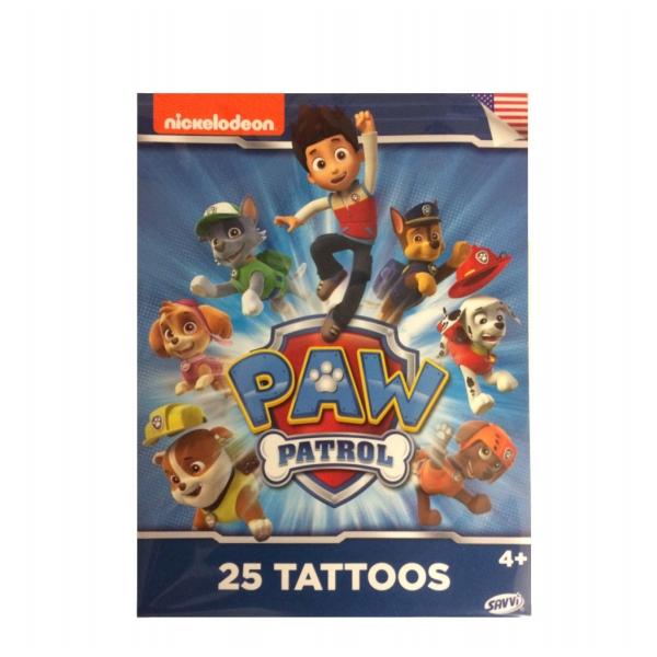 Paw patrol tattoos 25 stk fra 4 r for Paw patrol tattoos