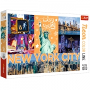 TREFL 1000 Brikker Neon Color Line New York
