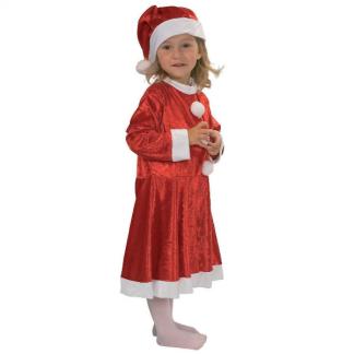 3ea57a640ade Rio nissekjole til piger 3-5 år. Sæt med nissehue perfekt til jul og ...