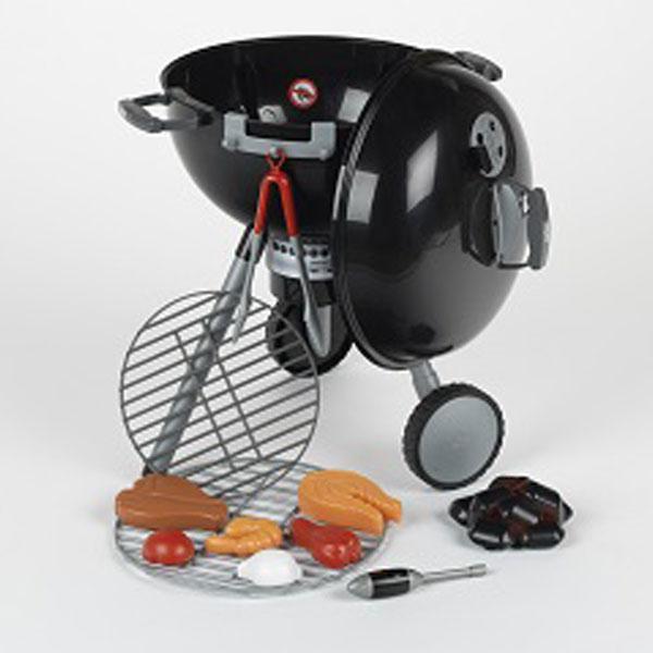 Kvalitets Weber Grill til børn. Legetøjsgrillen ligner en rigtig grill og der medfølger alt det ...